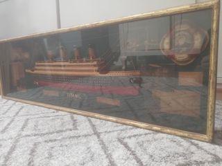 Espectacular cuadro Titanic