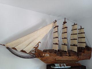 preciosa maqueta barco velero