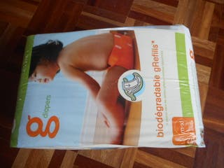 Pañales g-diapers desechables+ 2 absorbentes.