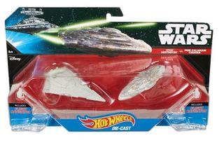 2 naves Star wars Hotwheels destructor vs crucero