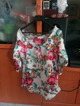 camisa mujer talla M Stradivarius