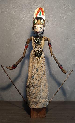 Antiguo Titere o Marioneta de madera policromada.