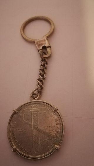 llavero moneda escudo
