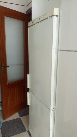 frigorífico combi, nevera y congelador en punta um