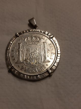 Colgante de plata con moneda