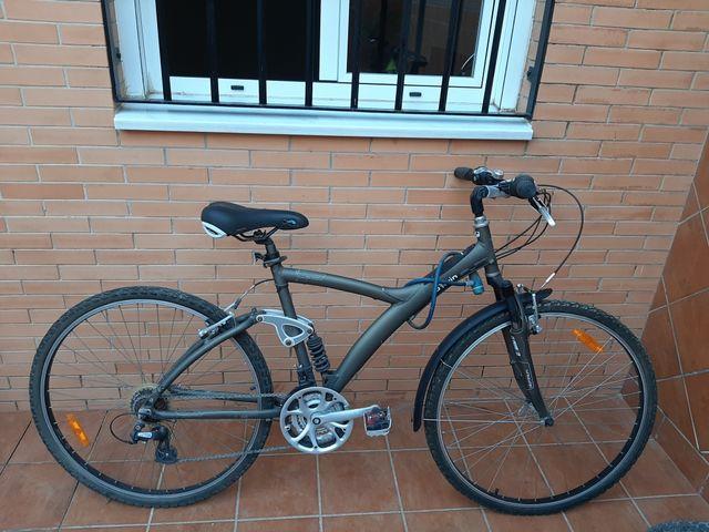 bicicleta aluminio mixta paseo-montaña