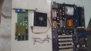 Placa base,procesador, ventiladory tarjeta gráfica