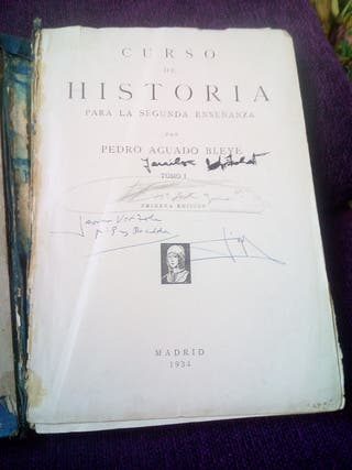 Curso de historia 1934