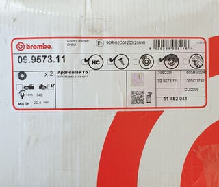 DISCOS TRASEROS BREMBO BMW X3 E83