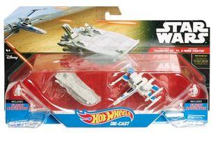 2 naves Star wars Hotwheels Transporter vs. X-wing