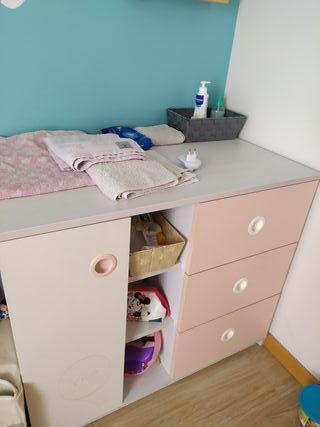 mueble / comoda bebe con cambiador incluido