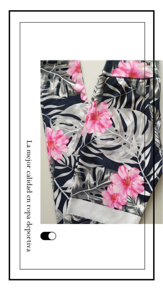 leggings floral gris