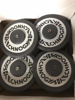 Mancuernas technogym 6 a 36kg