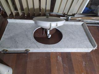Encimera baño marmol