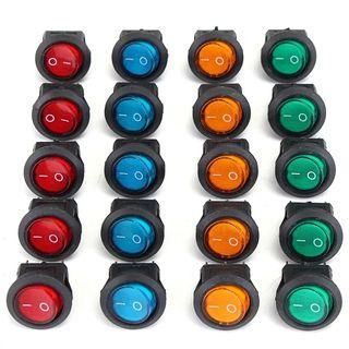 36 PCS cuatro colores 12V 3 pines LED conmutador R