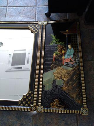 espejo y alacena mueble chino estilo oriental