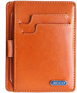 ultra Slim RFID Blocking Leather Card Wallet