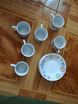 juego de 6 tazas de café