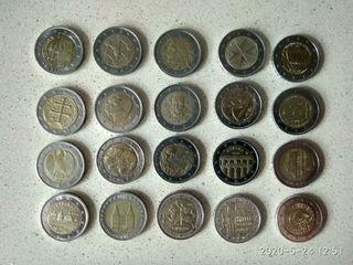 monedas de 2€ algunas dificiles de conseguir