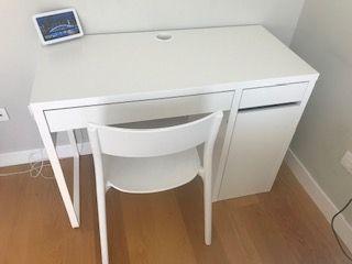 Mesa y silla escritorio blanco