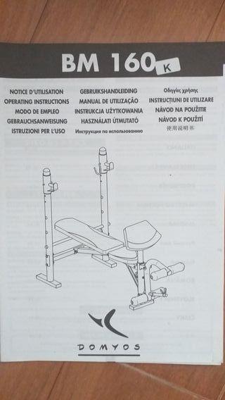 banco multifuncion de pesas press banca