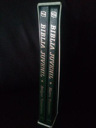 Biblia juvenil dos tomos antiguo y Nuevo testament