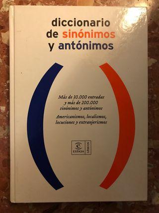 Diccionario de sinónimos y antónimos Espasa