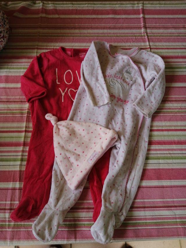 Lote de 7 pijamas de invierno talla 9-12 meses