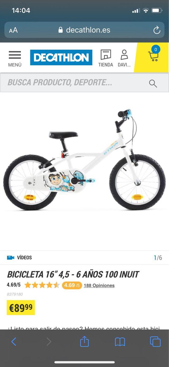 Bicicleta rueda 16 pulgadas