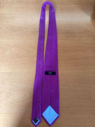Corbata lila Milano