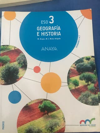 Libros geografía e historia 3 E.S.O. 3 voúlmenes