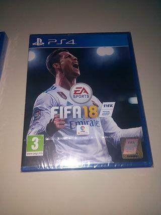 FIFA 18 ps4 nuevo sin abrir