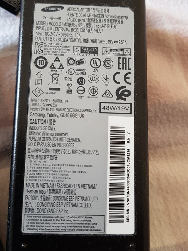 transformador tv Samsung