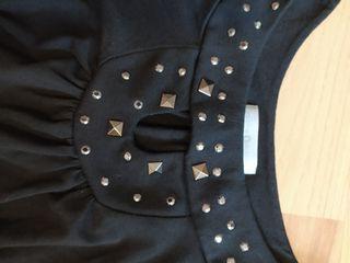 top negro con adornos talla m