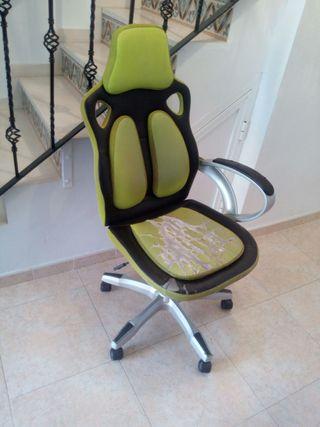silla bonita color verde i negra
