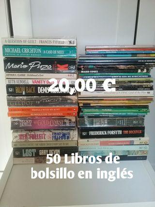 50 Libros de bolsillo en INGLÉS. Todos por 20,00€