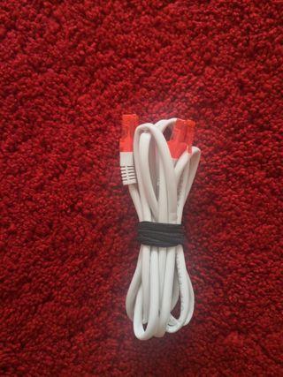Cable Ethernet blanco nuevo 2 metros