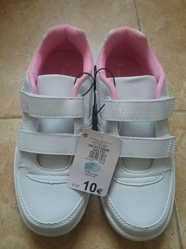 zapatillas deportivas niña rosa