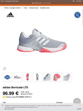 Zapatillas de padel/tenis Adidas Barricade LTD