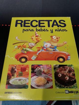 Libros de cocina alimentación infantil.