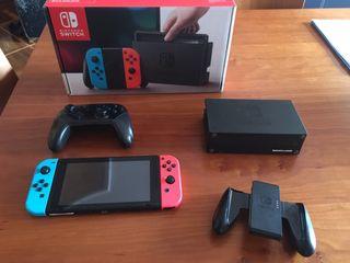 Nintendo Switch+ mando pro+opción cuenta juegos...