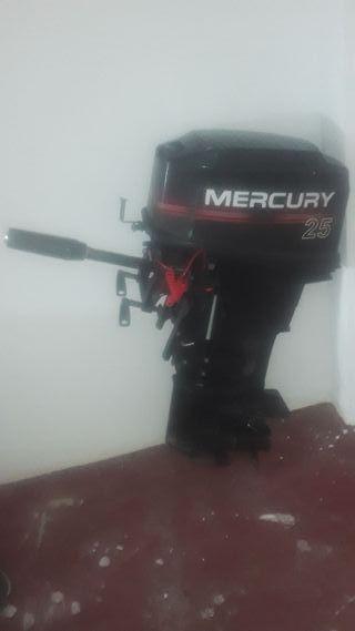 Motor mercury 25 cv fuera borda mando popero
