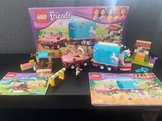 Lego Friends - 41089 y 3186 remolque de caballo