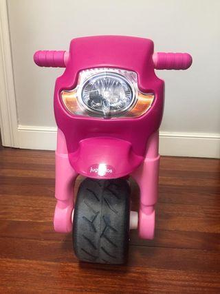 Moto rosa niña correpasillos y para la calle