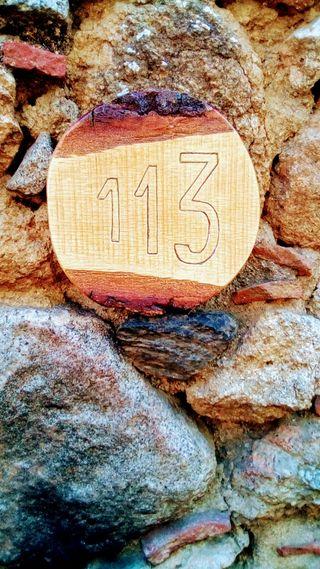 números en madera