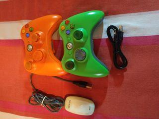 2 mandos de Xbox 360 más USB adaptador