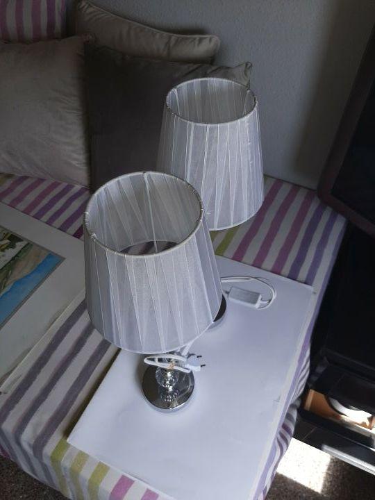 lamparas de mesita de noche 50 cmts