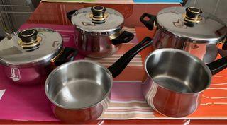 Batería de cocina Fagor 5 piezas