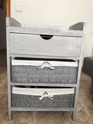 Mesita madera gris ( tienda casa)
