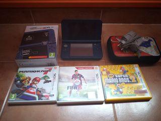 Nintendo 3ds XL azul metalico